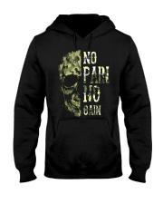 Viking Shirt - No Pain  No Gain Camo Hooded Sweatshirt thumbnail