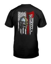 Helmet Valhalla Flag - Viking Shirt Classic T-Shirt back