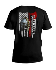 Helmet Valhalla Flag - Viking Shirt V-Neck T-Shirt thumbnail