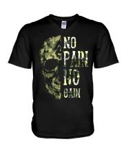 Viking Shirt - No Pain  No Gain Camo V-Neck T-Shirt thumbnail