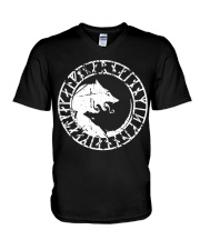 Yin Yang Wolf - Viking Shirt V-Neck T-Shirt tile