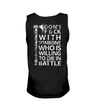 WHO IS WILLING TO DIE IN BATTLE - VIKING T-SHIRTS Unisex Tank thumbnail