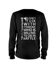 WHO IS WILLING TO DIE IN BATTLE - VIKING T-SHIRTS Long Sleeve Tee thumbnail