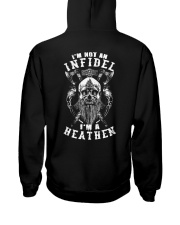 INFIDEL HEATHEN - VIKING T-SHIRTS Hooded Sweatshirt back