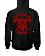 Viking Shirt : Valhalla Awaits Hooded Sweatshirt back