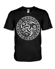 Triple Horn of Odin - Viking Shirt V-Neck T-Shirt thumbnail