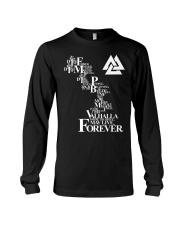 Viking Shirt : Valhalla May Live Forever Long Sleeve Tee thumbnail