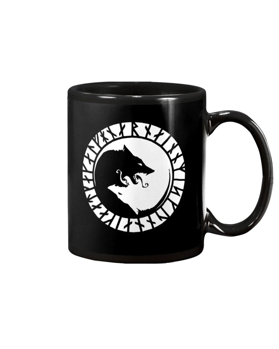 YIN YANG VIKING WOLF - VIKING MUGS Mug