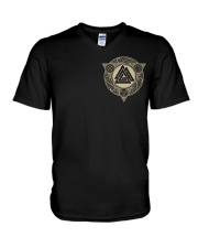 The Heart Of Odinism - Viking Shirt V-Neck T-Shirt thumbnail