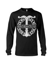 Viking Shirt : Heathen Proud Irminsul Yggdrasil Long Sleeve Tee thumbnail