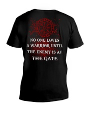 Viking Shirt - The Enemy Is At The Gate V-Neck T-Shirt thumbnail