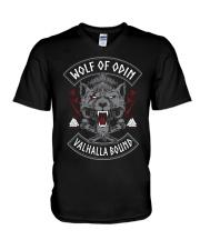Viking Shirt : Wolf Of Odin Valhalla Bound V-Neck T-Shirt thumbnail