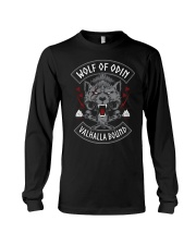 Viking Shirt : Wolf Of Odin Valhalla Bound Long Sleeve Tee thumbnail