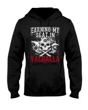 Viking Shirt : Earning My Seat In Valhalla Hooded Sweatshirt thumbnail