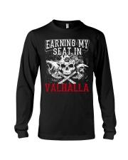 Viking Shirt : Earning My Seat In Valhalla Long Sleeve Tee thumbnail