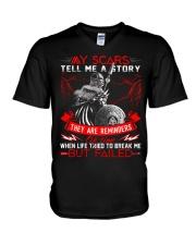 My Scars - Viking Shirt V-Neck T-Shirt tile