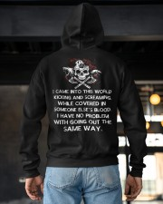 I Came Into This World - Viking Shirt Hooded Sweatshirt apparel-hooded-sweatshirt-lifestyle-back-163