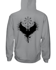 Raven Vegvisir - Raven Viking - Viking Shirt Hooded Sweatshirt tile
