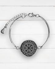 VIKING VEGVISIR - VIKING BRACELET Metallic Circle Bracelet aos-bracelet-metal-front-lifestyle-2