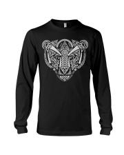 Viking Wolf Art With Norse Pattern - Viking Shirt Long Sleeve Tee thumbnail