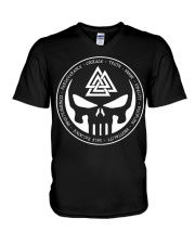 Viking Shirt - The Viking Valknut Symbol Meaning V-Neck T-Shirt thumbnail