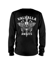 Viking Shirt : Valhalla Awaits Viking Long Sleeve Tee thumbnail