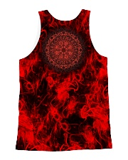 Viking Over Print - Skull And Fire All-over Unisex Tank back