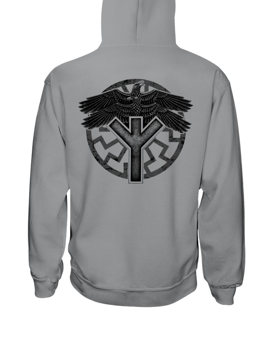 Viking Shirts : Huginn and Muninn : Raven Viking Hooded Sweatshirt