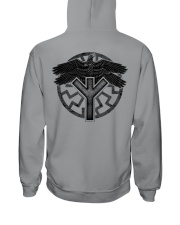 Viking Shirts : Huginn and Muninn : Raven Viking Hooded Sweatshirt back