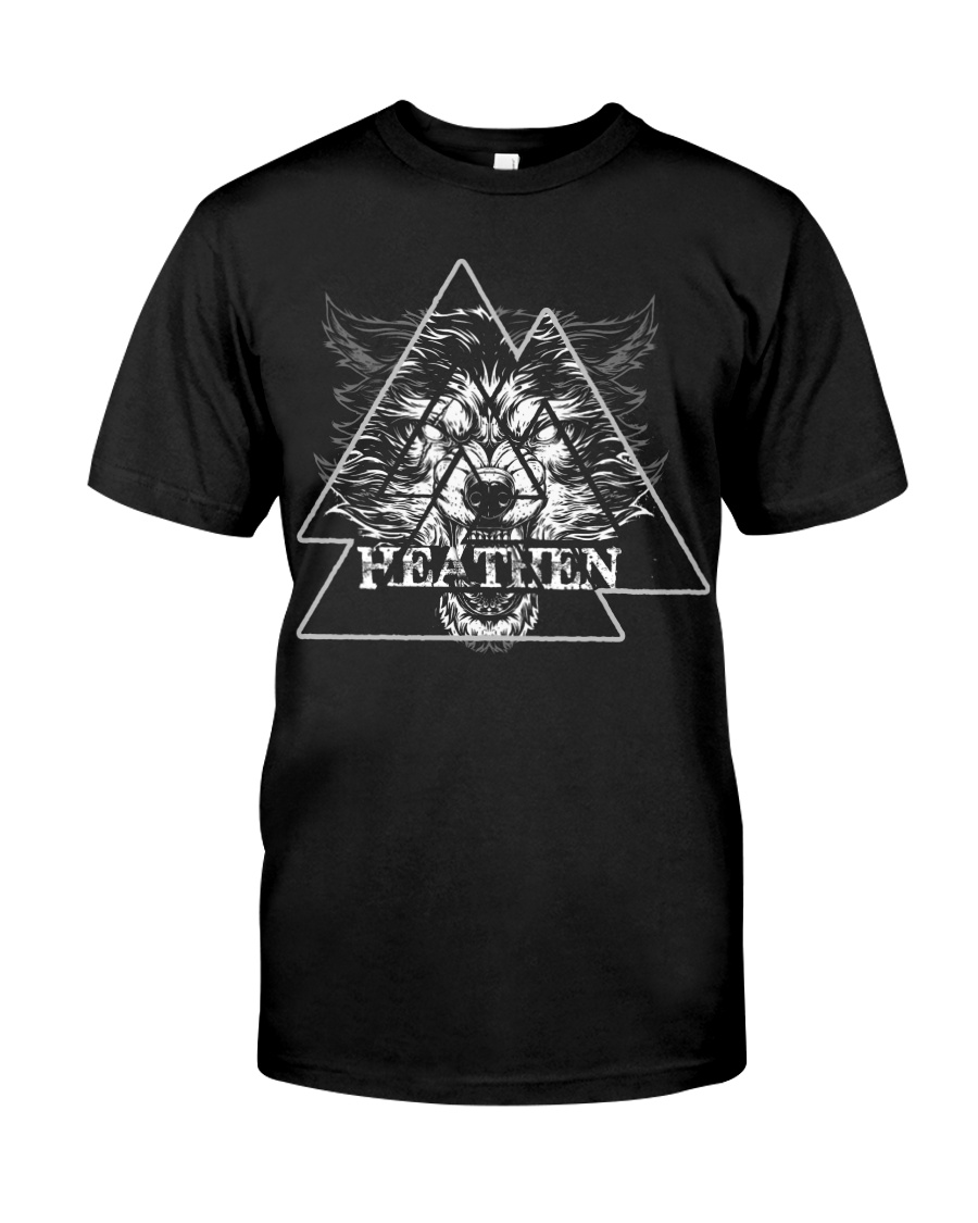 Wolf Heathen Valknut - Viking Shirt Classic T-Shirt