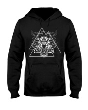 Wolf Heathen Valknut - Viking Shirt Hooded Sweatshirt thumbnail