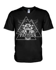 Wolf Heathen Valknut - Viking Shirt V-Neck T-Shirt thumbnail