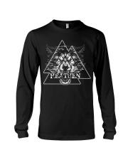 Wolf Heathen Valknut - Viking Shirt Long Sleeve Tee thumbnail
