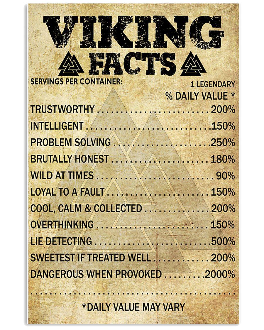 VIKING FACTS - VIKING POSTERS 11x17 Poster