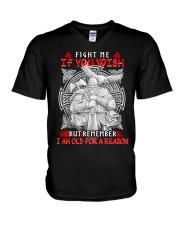 Viking Shirt - I Am Old For A Reason V-Neck T-Shirt thumbnail