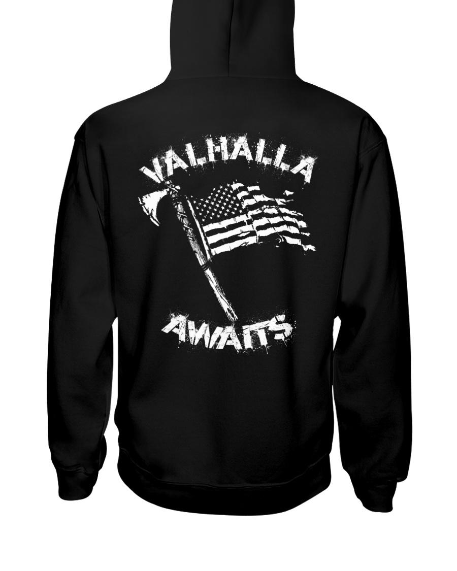 Valhalla Awaits - Viking Shirt Hooded Sweatshirt