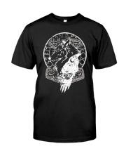 Raven Hammer Wolf Vegvisir - Viking Shirt Classic T-Shirt front