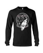 Raven Hammer Wolf Vegvisir - Viking Shirt Long Sleeve Tee thumbnail