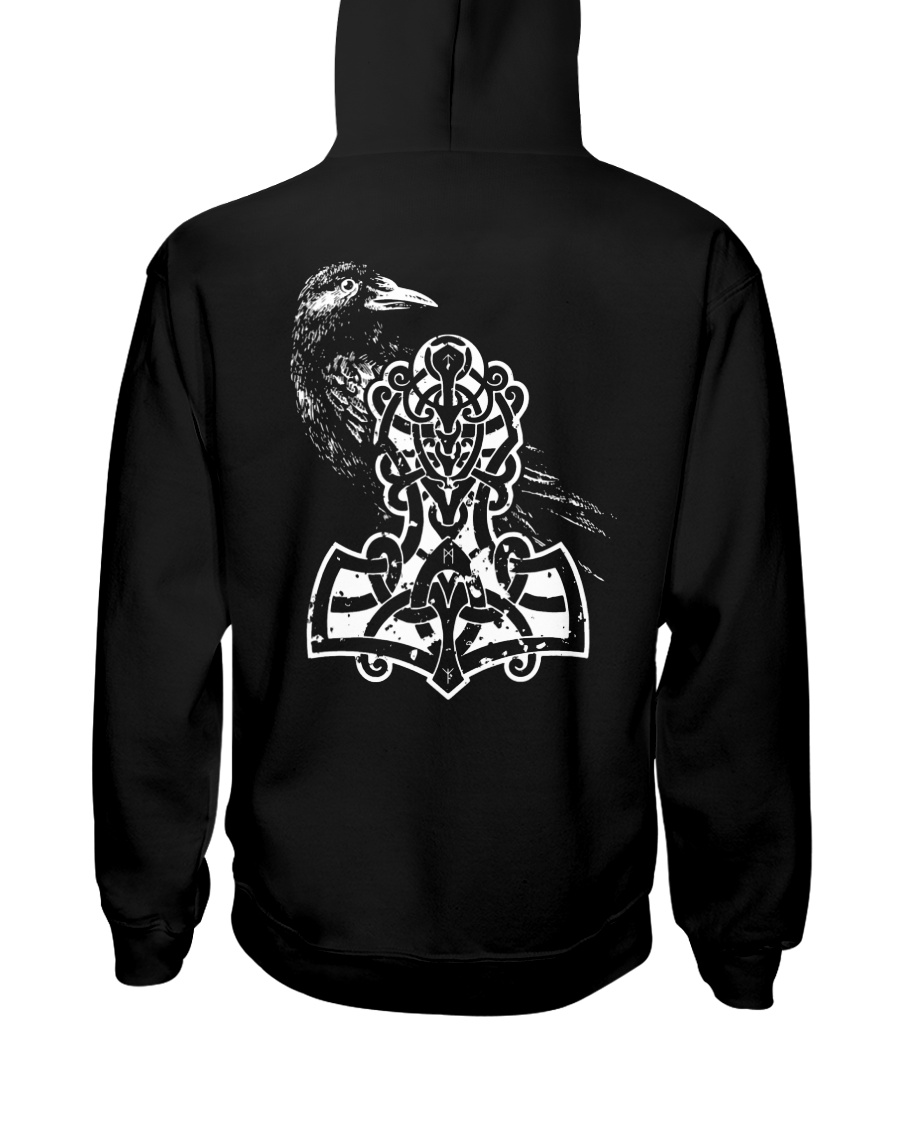 Raven And Hammer - Viking Shirt Hooded Sweatshirt