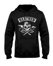 Viking Shirt : Heathen Wolf Raven Hooded Sweatshirt thumbnail