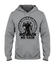 Viking Shirts : No Pain No Gain Viking Hooded Sweatshirt thumbnail