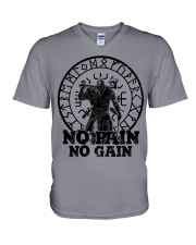 Viking Shirts : No Pain No Gain Viking V-Neck T-Shirt thumbnail