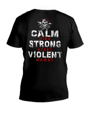 Calm Mind Strong Heart Violent Hands - VikingShirt V-Neck T-Shirt thumbnail