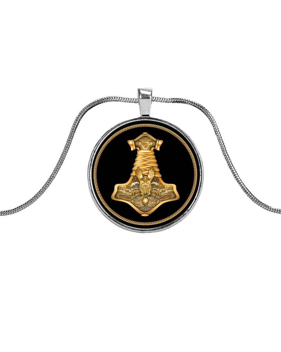 VIKING ODIN HAMMER NECKLACE Metallic Circle Necklace