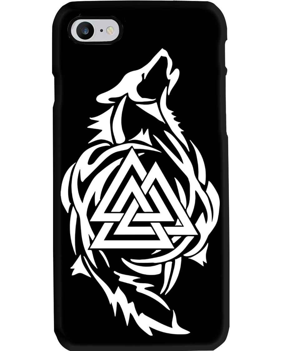 Viking Phone Case : Wolf Valknut Art Phone Case