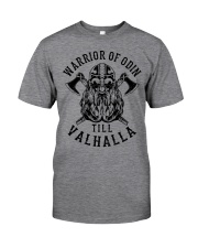 Viking Shirt : Warrior Of Odin - Till Valhalla Classic T-Shirt front