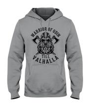 Viking Shirt : Warrior Of Odin - Till Valhalla Hooded Sweatshirt thumbnail