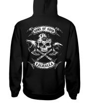 Viking Shirt : Sons Of Odin Valhalla Hooded Sweatshirt back
