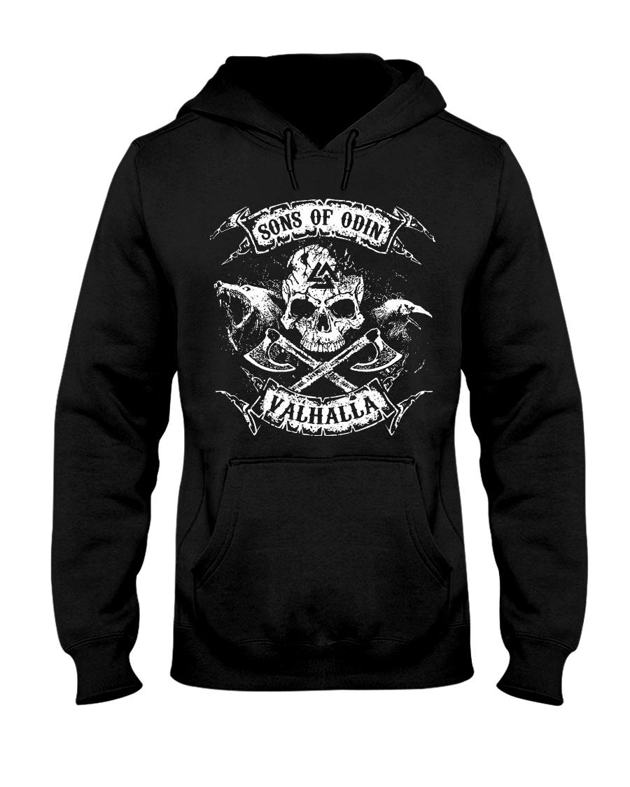 Viking Shirt - Sons of Odin Raven Wolf Hooded Sweatshirt