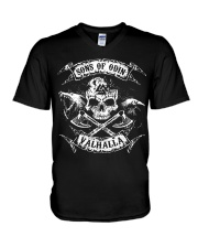 Viking Shirt - Sons of Odin Raven Wolf V-Neck T-Shirt thumbnail